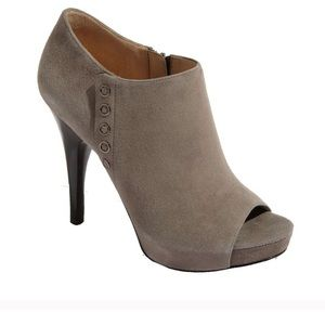 Via Spiga Grey Suede Ankle Booties